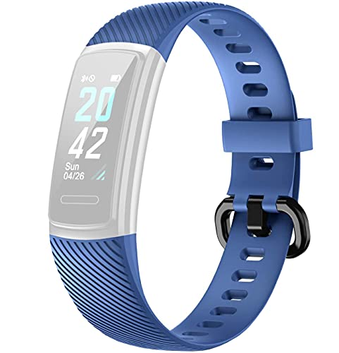 Delvfire ID152HR / ID152 Replacement Strap compatible with LETSCOM, Letsfit - Model Number ID152, ID152HR, Arcturus Fitness Tracker Band (Blue)