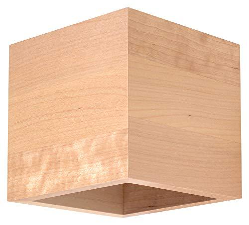 Sollux Lighting Wandleuchten, Holz, Naturholz, 12 x 10 x 10