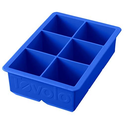 Tovolo Bandeja de cubos de hielo grandes, azul capri