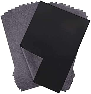 selizo 50 Sheets Black Carbon Transfer Tracing Paper for Wood, Paper, Canvas and Other Art Surfaces (9 x 13 Inches)