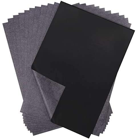Selizo 100 Sheets Black Carbon Transfer Tracing Paper for Wood, Paper, Canvas...