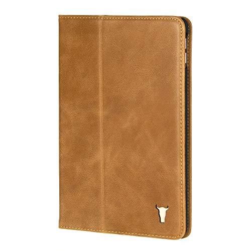 TORRO Lederhülle Kompatibel mit Apple iPad Mini 5 hochwertiges Leder mit [ Mehrere Betrachtungswinkel] [Wake/Sleep aktiviert] 7.9 Zoll Ausgabe 2019 (Hellbraun)