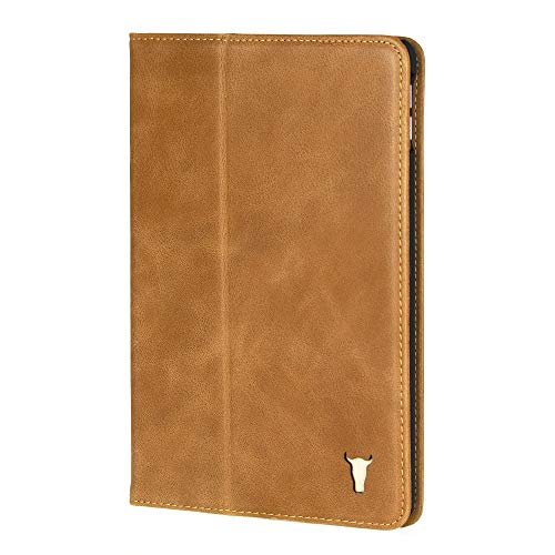 TORRO Tablet Case Compatible With Apple iPad Mini 5 Genuine Quality Leather Stand Cover With [Multiple Viewing Angles] [Wake/Sleep Enabled] 7.9 Inch 2019 Release (Tan)