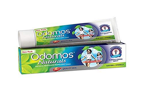 Odomos Naturals crema repelente de mosquitos antiadherente – Aloevera + Citronella – 100 g