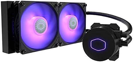 CoolerMaster MasterLiquid ML240L RGB V2, Close-Loop AIO CPU Liquid Cooler, 240 Radiator, Dual SickleFlow 120mm, RGB Lighting, 3rd Gen Dual Chamber Pump for AMD Ryzen/Intel LGA1200/1151