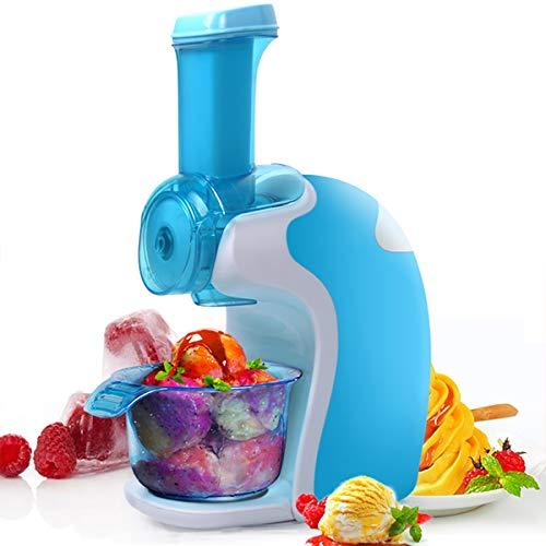 Clouds Eismaschine, Tragbare Fruchteis Maschine in 10-20 Minuten Zubereiten Haushalt Mini Kleine Eismaschine Für Gefrorene Früchte,Blau