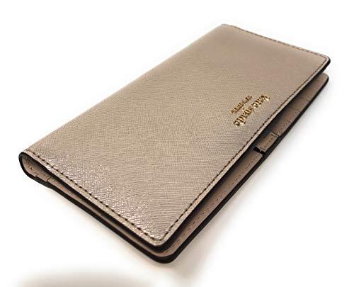 Kate Spade New York Large Slim Bifold Wallet Metallic Blush