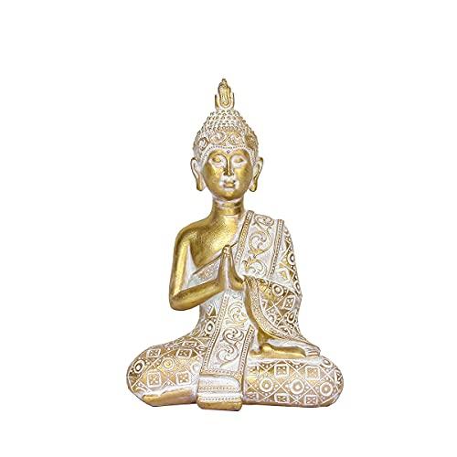 OTARTU Buddha Statues for Home Décor, 8' Thai Buddha Statue Gold Color, Collectibles and Figurines, Spiritual Living Room Decor, Yoga Zen Decor