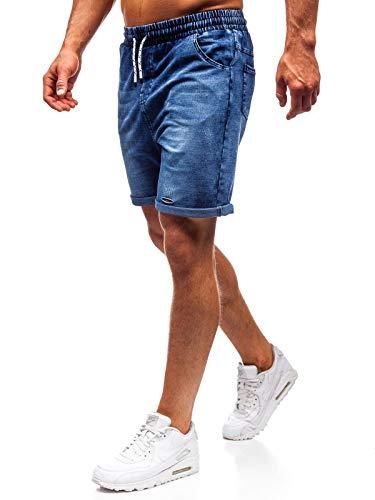 BOLF Hombre Pantalón Corto Pantalones Vaqueros Denim Regula