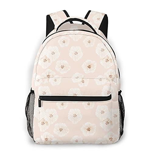 Zhouwe Zaini rosa per la scuola di libri, borsa per il trasporto, borsa leggera da viaggio, sport