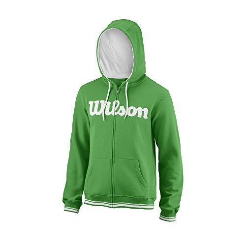 Wilson M Team Script FZ Hoody Felpa Sportiva con Cappuccio, Uomo, Verde (Andean Toucan)/Bianco, S