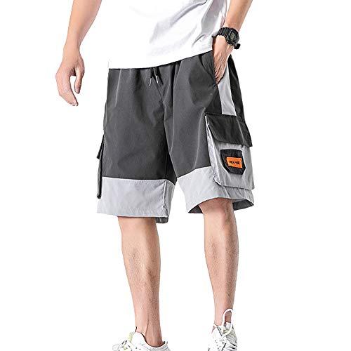 SADF Pantalones Casuales De Verano Para Jóvenes Grises Pantalones Cortos Retro De Talla Grande Para Hombres Pantalones Cortos Para Hombres
