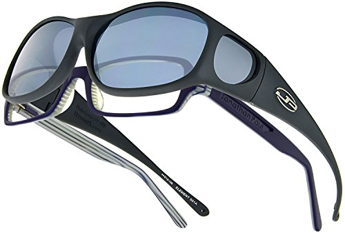 Element JP Fitovers - Matte Black - Grey Lens (EM001)