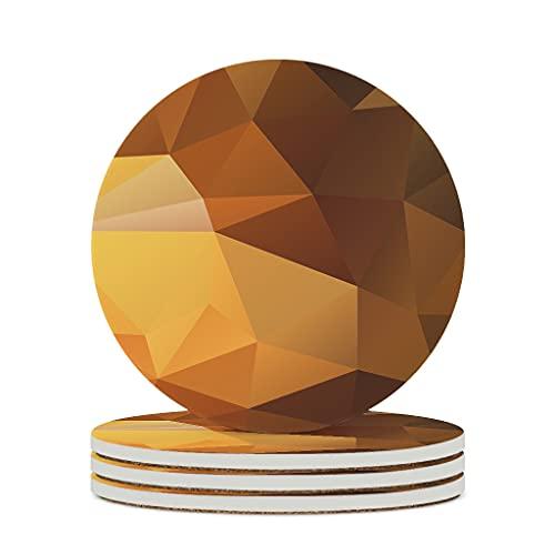 DAMKELLY Store Posavasos de cerámica con forma de cubo gradiente, de primera calidad, de cerámica, personalizable, único, para la oficina o cumpleaños, color blanco, 4 unidades