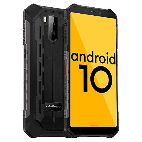 Ulefone Armor X5 Outdoor Handy - Android 10.0 Rugged Smartphone IP68/IP69K Wasserdicht Stoßfest Staubdicht Mobiltelefon Dual SIM 4G 3GB RAM 32GB ROM 5,5-Zoll-Display 5000mAh Akku (Schwarz)