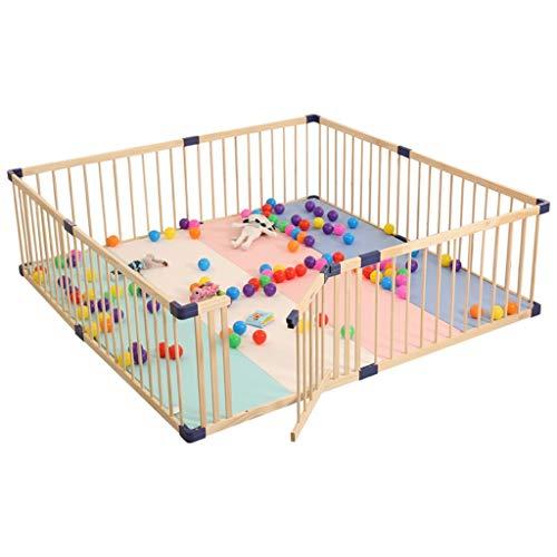 Parc bebe Wood Baby Playpen - Grande barrière extérieure pour Enfants, Centre de Jeu de sécurité, Maison (Taille : 120×200×61cm)