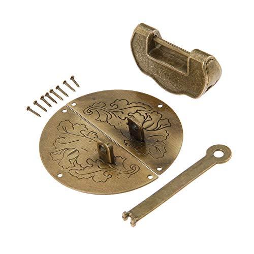 L-Yune,bolt 1 Juego de Muebles Antiguos Hardware fijados Toggle Latch Cerrojo de la Hebilla + Chino Decorativo Antiguo candado de Bloqueo for la joyería Caja de Madera