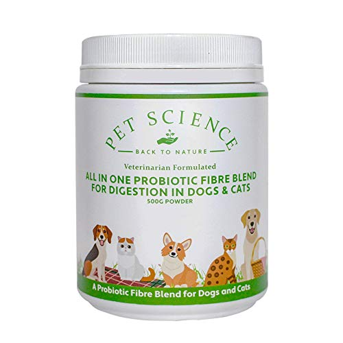 Pet Science ALL-IN-ONE Probiotic Fibre for Dogs and Cats to balance and support Digestion (500g)