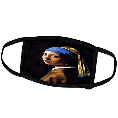 Taiche-Acrylmalerei-Frau-Mädchen mit einem Perlenohrring nach Johannes Vermeer-Gesichtsschal