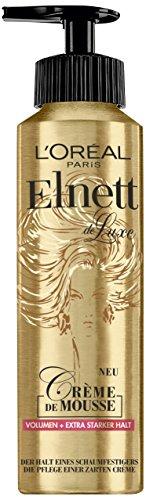 L'Oréal Paris Elnett Schaumfestiger für Volumen und extra starken Halt, Hitzeschutz & Styling, Crème de Mousse, 1 x 200 ml