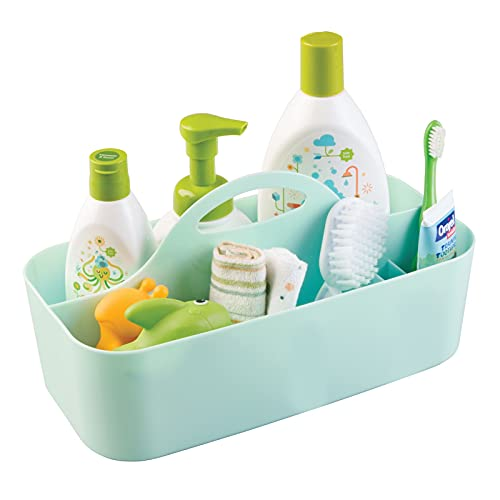 Product Image of the mDesign Plastic Portable Nursery Storage Organizer Caddy Tote - Divided Basket...