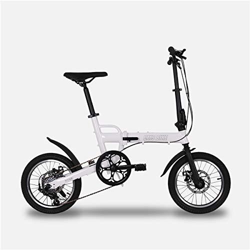 TTW 16 Pulgadas Plegable Bicicleta para Adultos y niño importación Shimano 6...