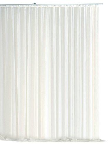 Haus und Deko Gardine Kräuselband Emotion weiß transparent 700 x 245 cm Organza Vorhang klassisch kurz mittel oder lang Voile Store