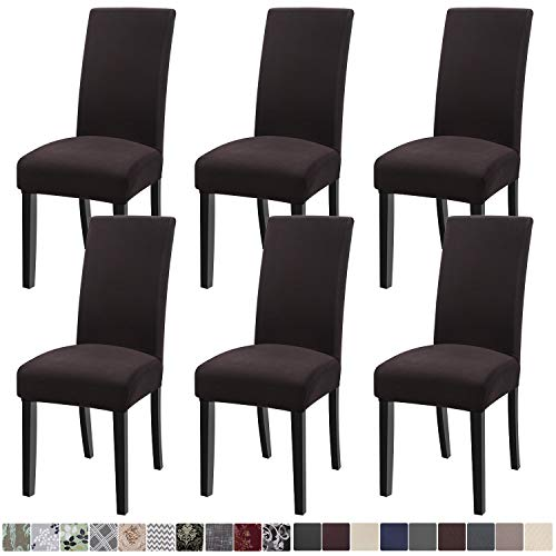 Mejor SureFit Short Dining Chair Slipcover Duck-Up to 42 Inches Tall-Machine Washable-100% Cotton, Tan crítica 2020