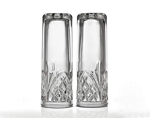 Godinger Dublin Salt & Pepper Shakers Crystal Salt And Pepper Set