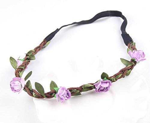 AK.SSI Mode tendance plage bohème rose fleur bandeau 1pcs