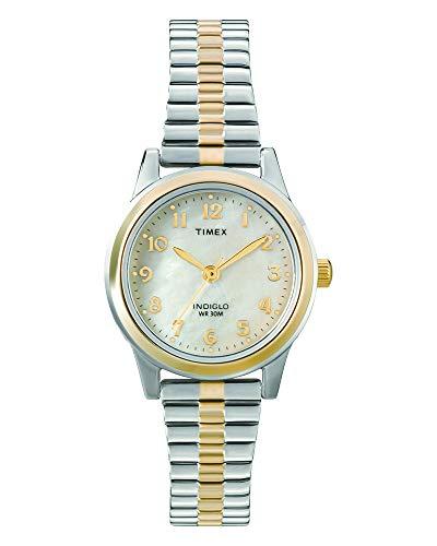 Timex Damen Analog Quarz mit Edelstahl beschichted Armband T2M828