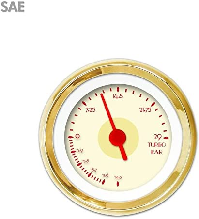 Aurora Instruments 2941 DECO XT Tan SAE Red Very Quality inspection popular Vintage Turbo Gauge