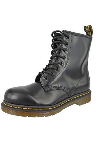 Dr. Martens 1460 Smooth, Stivali Unisex – Adulto, Nero (Black Smooth), 42