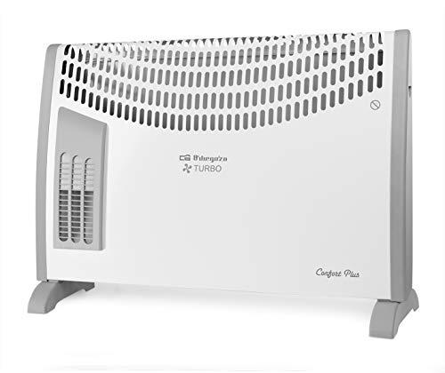 Orbegozo CVT 3650 A - Convector, 3 niveles de potencia, protección contra sobrecalentamiento, termostato regulable, asas de transporte, 2000 W