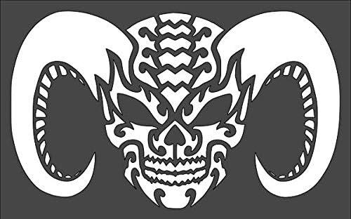 Max 62% OFF 1- 7x11 Nippon regular agency inch Custom Cut Stencil Arts VF-2 and Crafts Sc Demon