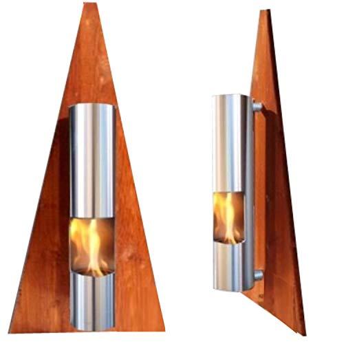 Gel ed Etanolo Caminetti Camino Fire Place Cheminee Modello Pyramide - Scegli il colore (Marrone)