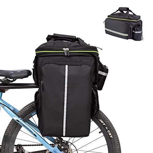 UBORSE Borsa Posteriore Cremagliera per Bicicletta, Borsa Bagagli per Bici Portapacchi Grande capacità 32L, Borsa da Viaggio Multifunzionale Riflettenti