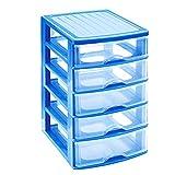 Acan Cajonera de plástico 5 cajones Azul 28.5 x 21.5 x 17.5