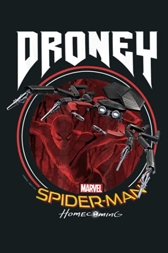 Marvel Spider Man Homecoming Droney Heavy Metal: Notebook Planner - 6x9 inch Daily Planner Journal, To Do List Notebook, Daily Organizer, 114 Pages