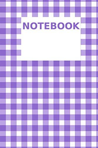 Notebook: Purple Plaid Lila Journal Organizer Woorkbook with Checkbox and Lines A5 I Notizbuch
