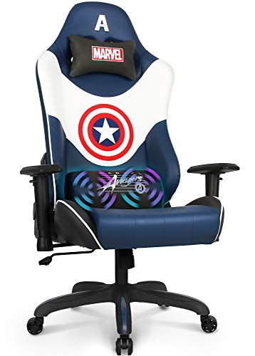 Marvel Avengers Massage Gaming Chair Desk Office Computer Racing Chairs -Adults...