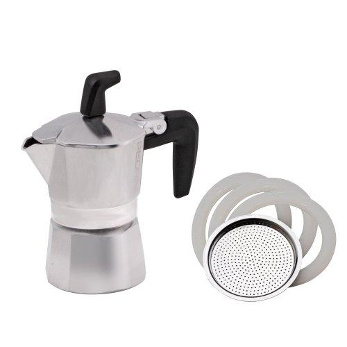 Pedrini 02CF001 Sei Moka Espressokocher Aluminium für 1 Tasse