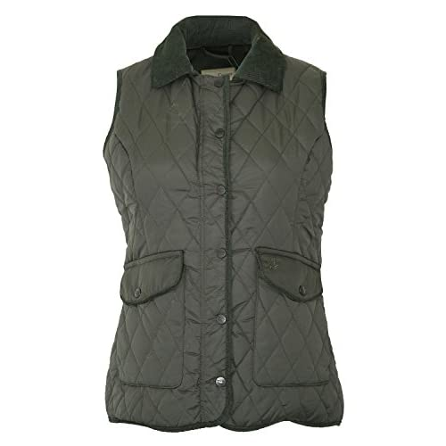 Champion Country Estate Womens Quilted Gilet Bodywarmer – Olive Green – 10