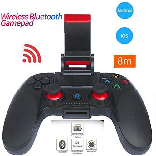 Zero starting point Mobile Gaming Mando, Gamepad Bluetooth Controlador con Vibración, Controlador Gamepad, Mando para PS4, Joystick para Compatible Android 3.2/iOS 6.0,Negro