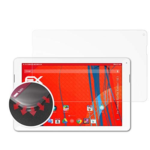 atFolix Schutzfolie kompatibel mit Trekstor SurfTab Xintron i 10.1 Folie, entspiegelnde & Flexible FX Bildschirmschutzfolie (2X)