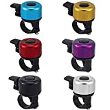 Taicanon 6 Pack Bike Bell, 6 Colors Aluminum Alloy Bicycle Ring Bell