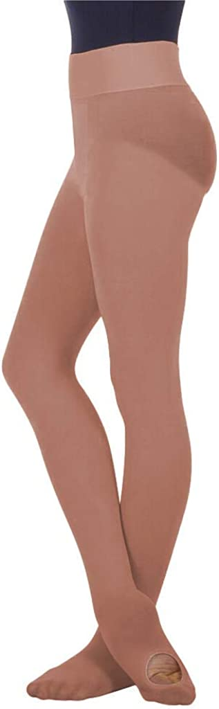 BodyWrappers Women's Wide Smooth Waist Convertible Tights (Suntan, Large/X-Large) - A41