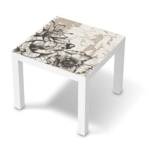 creatisto Möbeltattoo passend für IKEA Lack Tisch 55x55 cm I Möbelaufkleber - Möbel-Folie Tattoo Sticker I Wohn Deko Ideen für Esszimmer, Wohnzimmer - Design: Styleful Vintage 1