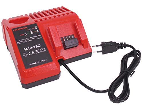 FengWings® 18V M18 Reemplace los cargadores por Milwaukee 48-59-1812 48-59-1807 48-59-1806 48-59-1840 2710-20 Batería de instrumento de iones de litio 220 V