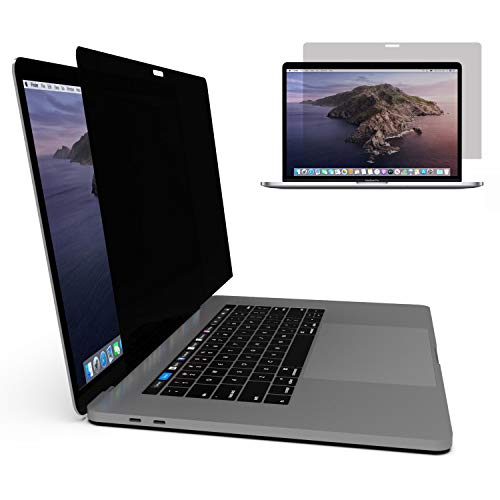 amphi Privacy Glass Screen Protector Compatible for MacBook Pro (13 inch; 2019, 2018, 2017) Models; Tempered Glass, Anti-Spy, Scratch Resistant, Removable Privacy Filter